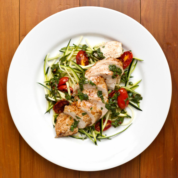 Mike Berland's Zucchini Pasta with chicken